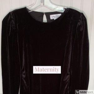 EUC CLXS Motherhood Maternity Velvet Dress